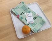 set of 4 reversible cotton napkins, christmas gift, holiday gift, housewarming, hostess gift, cheers