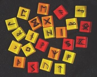 Sunny Days 24pc Elder Futhark Rune Set