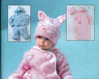 Butterick 4333 Infant's Bunting, Jacket, Pants, Jumpsuit, Hat & Mittens Pattern, S-XL UNCUT