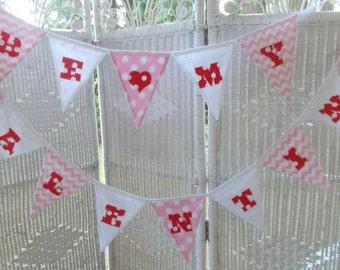 BE MY VALENTINE Fabric Banner- Valentine's Day Decoration