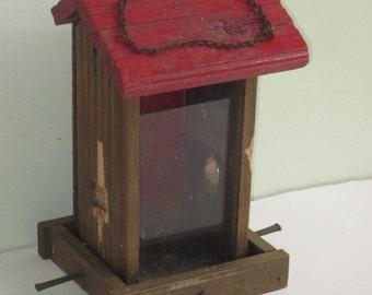 Rustic Handmade Wood Bird Feeder From Scrap Wood