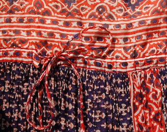 1970's cotton maxi dress for Saks Fifth Avenue