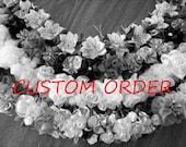 Custom Order (Spring's bounty flat ribbon lei)