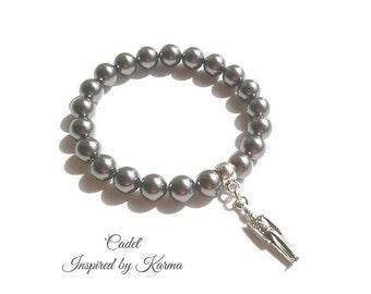 West Point Swarovski Pearl Bracelet-usma Crest, Cadet Chapel, Cadet Ring, Army Mule, usma Mascot, USMA Jewelry, USMA Mom, Charm Bracelet