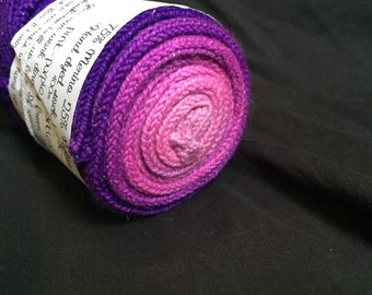 Pink-Purple hand dyed sparkly gradient sock blank
