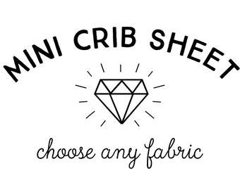 Mini Crib Sheet in Any Print. Crib Sheet. Fitted Crib Sheet. Mini Baby Bedding. Mini Crib Bedding. Minky Crib Sheet. Crib Sheets.