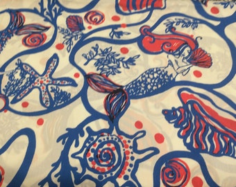 Snails  and Tails cotton poplin . 18 x 18 inches  ~Lilly Pulitzer~