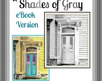 eBook 40 Shades of Gray Art by Alisann - Grayscale Coloring Book - PDF Instant Download