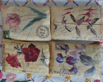Botanical hand printed lavender pillows