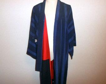 SALE 50%off!! - Antique kimono - Blue stripe