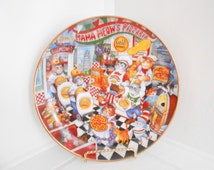 Cat Art / Vintage Cat Kitchen Plate / Slice of Purrfection / Franklin Mint Collection