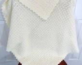 Crochet Baby Blanket, Boy or Girl, Crib Bedding, Toddler Afghan