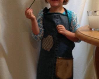 Childrens denim apron