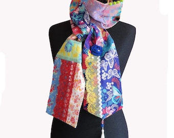 "Bohemian chic scarf  "" Bergamote"" One of a kind"