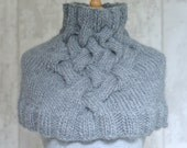 KNITTING PATTERN Creadon Cable Caplet in Super Chunky Yarn Easy Knitting pattern Instant Download Digital File