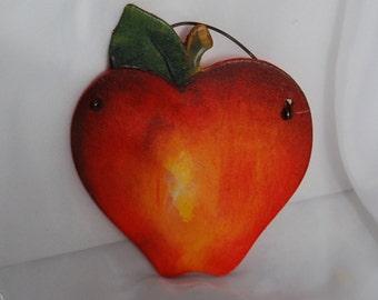 Wooden Apple Ornament