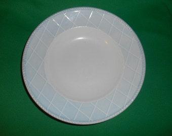 "One (1),   Lenox China, 9 3/8"" Large Rim Soup Bowl, in the Swedish Rose Pattern."