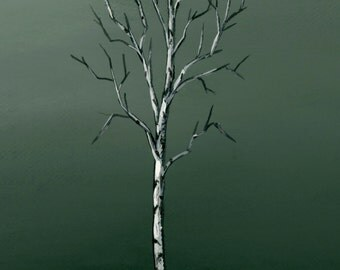 Tree Print, Wall Art, Home Decor, Birch Tree, Winter Art. Free Shipping in the US!