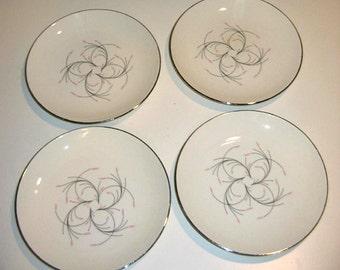 Vintage Homer Laughlin Rhythm Capri Bread & Butter Plates, Set of 4