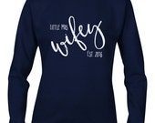 CUSTOM Personalised Little Mrs Wifey Round Neck Jumper