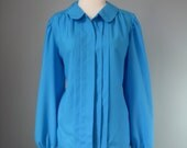 Blue Blouse  / Vtg 70s / ...