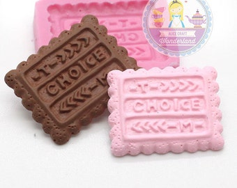 Rectangular Cookie Biscuit 23mm Bakery Silicone Flexible Mold 207m BEST QUALITY