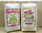 SHOP CLOSING SALE Flour Sack, Play Food, Oats, Corn Meal