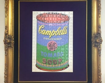 Warhol inspired puzzle display