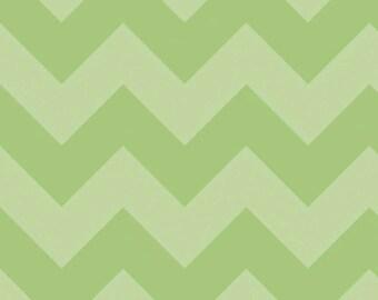 Riley Blake Large Green Chevron SKU# C390-31