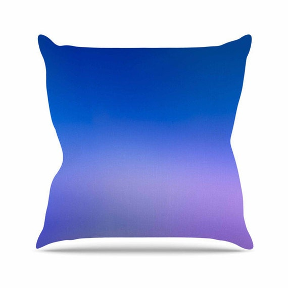 Blue Throw Pillow Purple Throw Pillow Decorative Throw