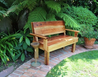 Love Seat, Redwood Bench, Custom Bench, Custom Furniture