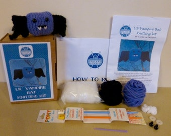 Lil' Vampire Bat Knitting Kit