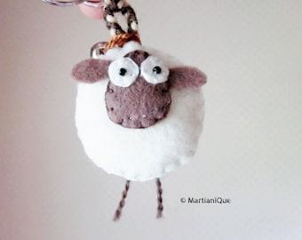 Giorgio the Sheep Felt Keychain