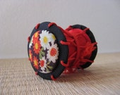 Tsuzumi drum ornament, Japanese Kimono Fabric