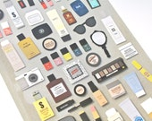 Cosmetic Stickers - Cosmetics Stickers - Makeup Stickers - Nail Polish Stickers - Korean Stationery - Korean Stickers