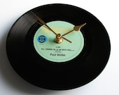 """PAUL WELLER Vinyl Record CLOCK """" All I Wanna Do"""" Was a recycled 7"""" vinyl record mod post punk new wave rock The Jam Style Council soft pink"""
