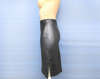 Super Sexy Business Black Leather pencil skirt 100% Genuine Lambskin leather New