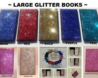 LARGE Glitter Bling Waitress Server Book Decorative and Super Shiny!!!*