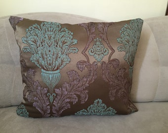 Damask Pillow Case,Bohem Pillow Cover, Harem Pillow Cover, Floral Pillow Case , İslamic Pillow Cover , Ottommans Pillow Case