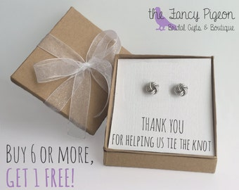 Bridesmaid Earrings - Personalized Bridesmaid Gift - Bridesmaid Gift - Bridal Party Gift - Thank You - Wedding