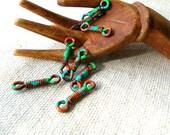 Copper Bohemian Connectors - Handmade Findings - Boho Findings - Tribal Connectors - Bohemian Connectors