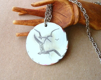Jonathan Livingston Seagull Necklace - 24 Inch Necklace - Vintage Seagull Necklace