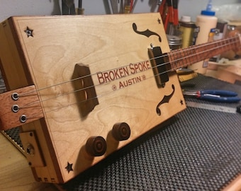 "Cigar Box Guitar -- ""Broken Spoke """