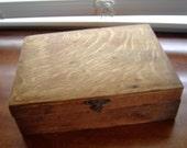 Vintage antique wood box rustic primitive box diy box home decor collectible hard wood box rustic decor