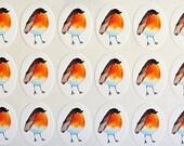 Robin Bird Planner Stickers, Winter Planner Stickers Mini Stickers Cute Red Christmas Bird