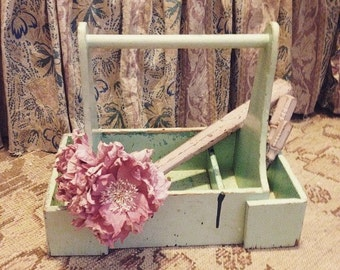Antique chippy wooden tool box crate shabby chic storage shabby chic ashwell