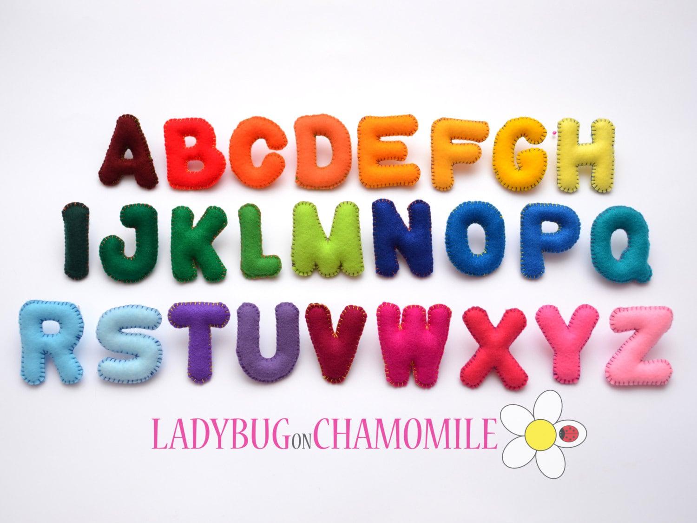 Alphabet train coloring - Felt Magnet Alphabet Basic Font Rainbow Alphabet Felt Alphabet Felt Letters Colorful Letters Educational Toy Stuffed Felt