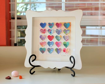 Painted Hearts Shadowbox (Connection)