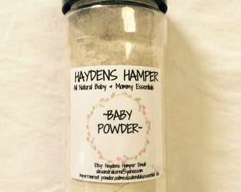 Natural Homemade Baby Powder. Talc Free, Chemical Free. Made with Bentonite Clay & Essential oils by haydenshamper.com for Everyday Gourmet