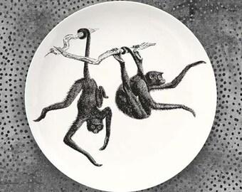 Monkeys, Spider Monkeys melamine plate